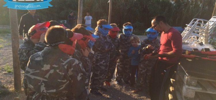 Kids en paintball Benidorm… los peques al poder.